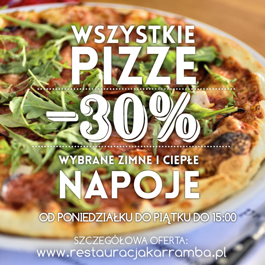 LUNCH – 30% – PIZZA
